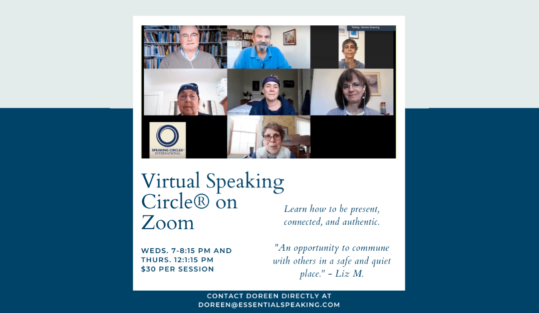 Virtual Speaking Circle® on Zoom!
