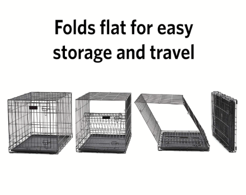 Dog Training crate folds up easily