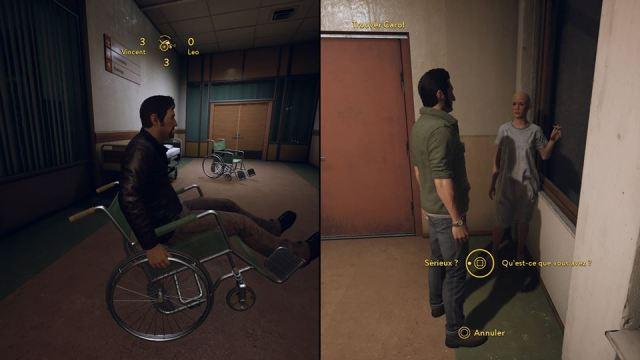 Pendant que Vincent prend la vie du bon côté, en se tenant en équilibre sur un fauteuil roulant, Leo fait la connaissance d'une patiente pas très raisonnable… Ce passage à l'hôpital se clôt par une folle poursuite dans les couloirs. Un très bon passage, et un gros clin d'oeil au film Old Boy notamment...