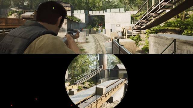 Dans la deuxième partie du jeu, les armes à feu font leur apparition. Vous aurez alors, pendant un bref instant, le loisir de couvrir votre équipier au sniper. Et à l'instar de toutes les séquences du jeu, celle-ci est brève, relativement intense, et amenée intelligemment.