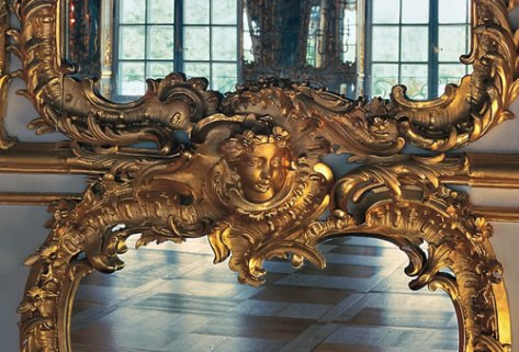 fragment of mirror, Catherine Palace, Russia
