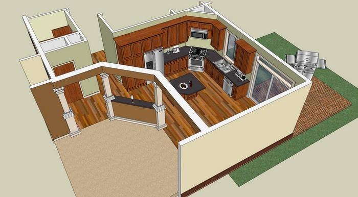 Google sketchup 3D rendering