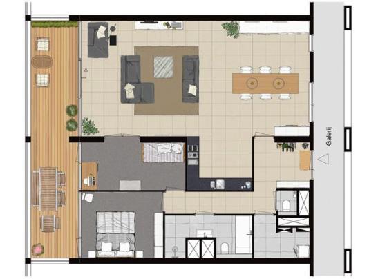 Floor plan created in vectorworks