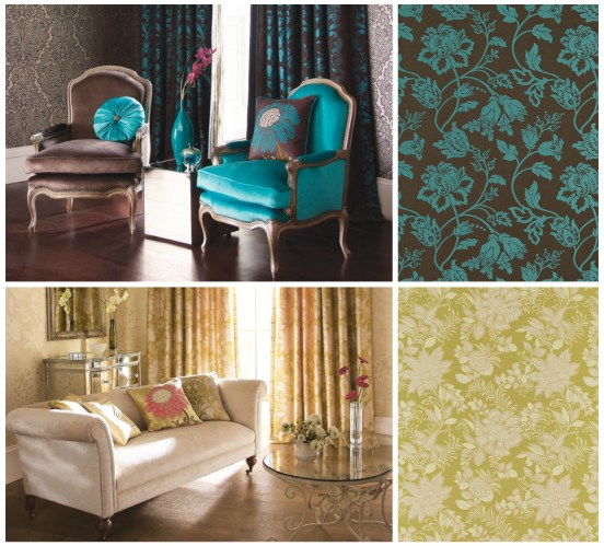 Lucido damasks collection from Harlequin