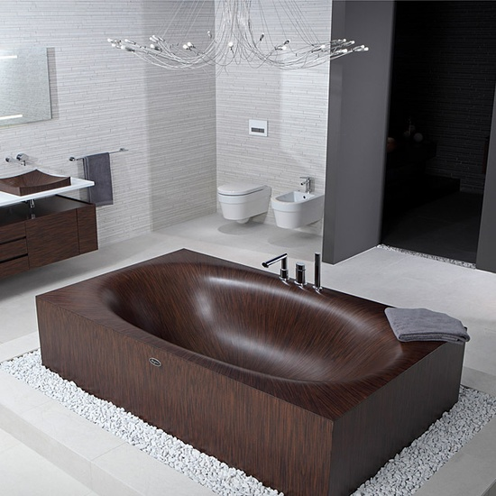 Wooden Bathtubs Always Look Very Impressive U2013 Consider This Option If You  Want To Make A Statement In Your Bathroom.
