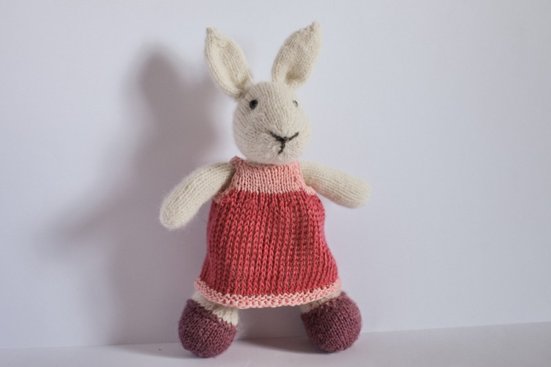 hand knitted bunny toy