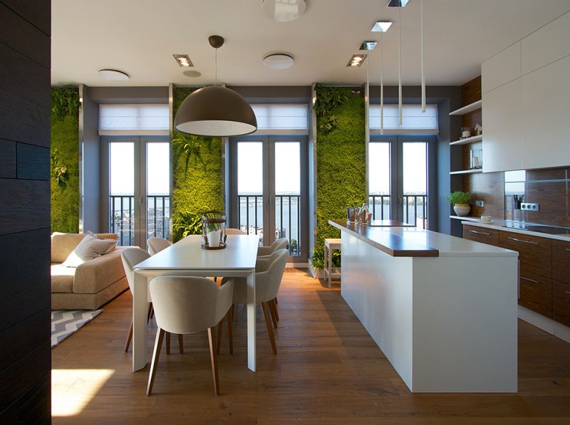 Green Wall in Dinning Room
