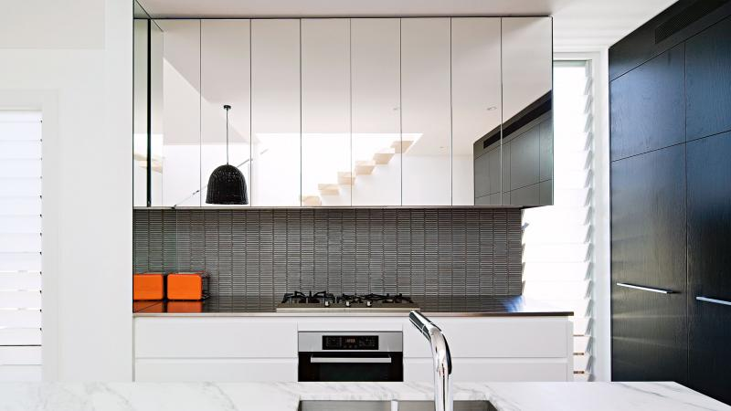 kitchen mirrors nook bench decorating with the dos and don ts reflecting random items in house is a huge faux pas interior design industry this especially if they reflect clutter or things that