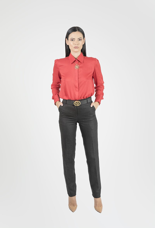Rose Button - Down Shirt - Essere Vegano Vegan Clothing