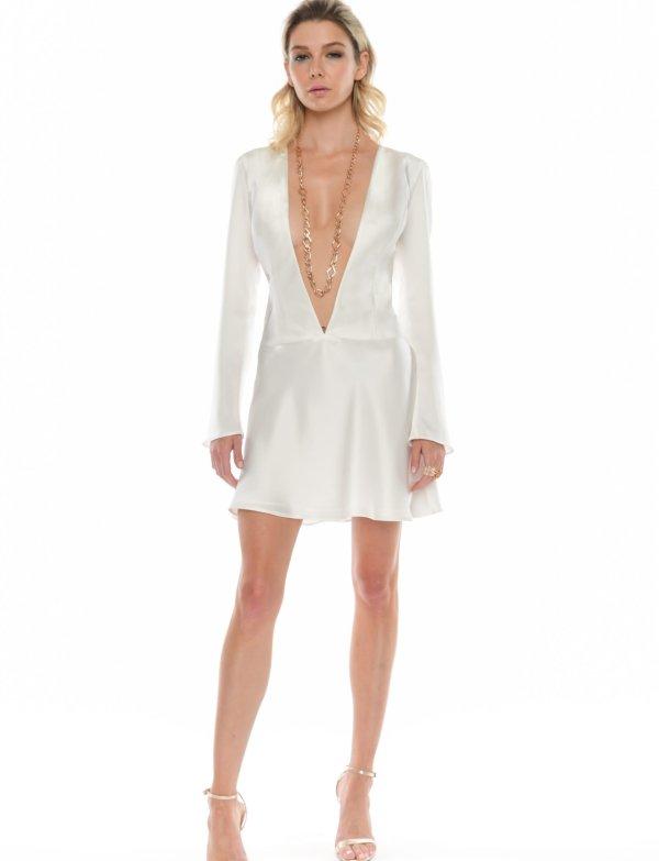 Jane Deep V Mini Dress - Essere Vegano Vegan Clothing