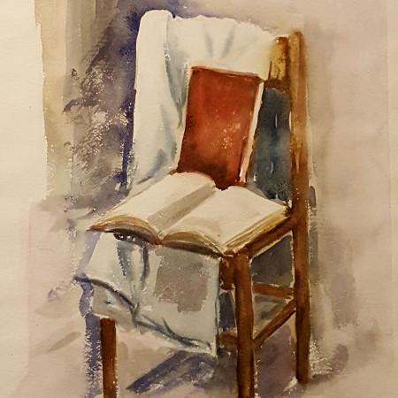 La sedia - acquarello - cm. 50 x 70