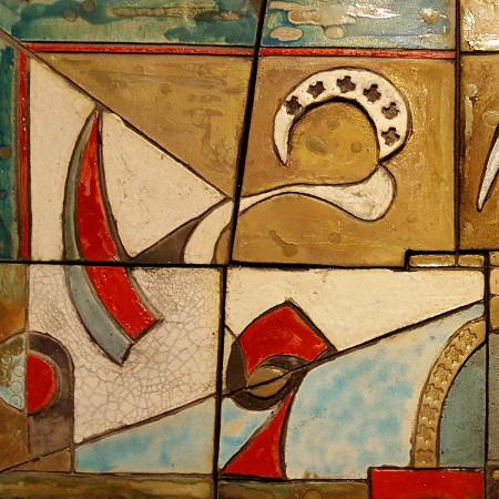 Sogni - ceramica raku - cm. 80 x 40