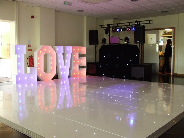 Wedding DJ from Essex Event setup