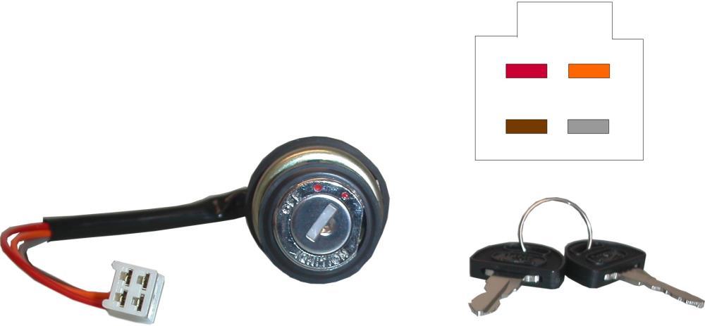 Ignition Switch Suzuki Early GS, GT 4 Wires. Essex