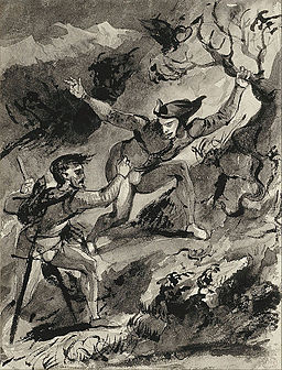 Eugène Delacroix (1798-1863),Faust and Mephistopheles on the Blocksberg (1826), The Städel Museum, Frankfurt am Main [image in the public domain]