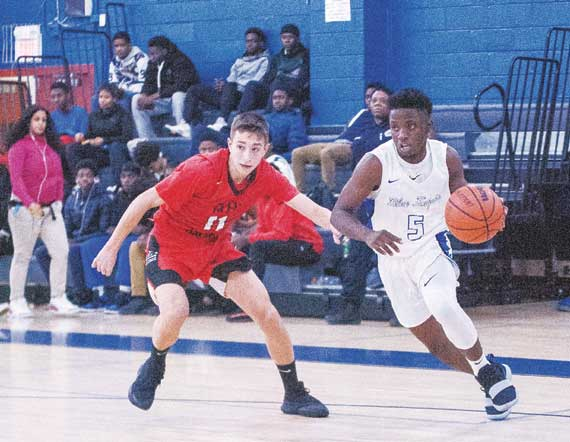 Irvington HS boys' basketball team  improves to 12-1