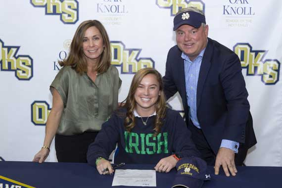 Maplewood lacrosse siblings Kayleigh Wolff and Cullen Wolff sign with Univ. of Notre Dame and Trinity College, respectively
