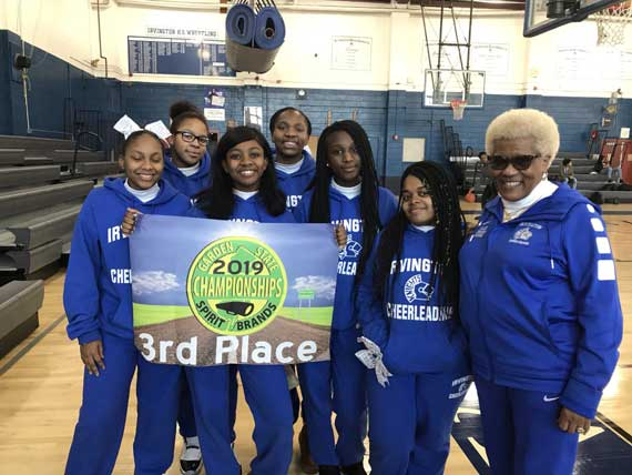 Irvington HS cheerleading team takes 3rd place at Garden State Championships