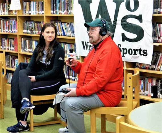 Write on Sports presentation held at Edison Middle School