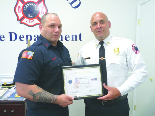 BFD receives federal award for supporting military reservists reservists