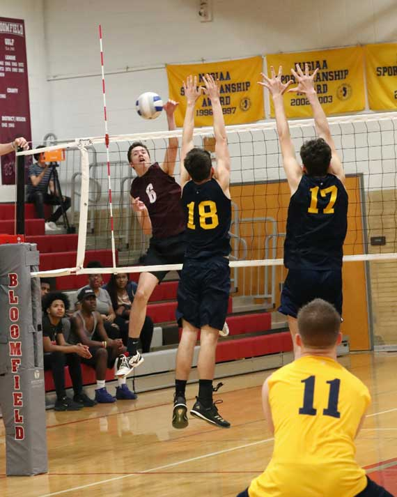 Bloomfield HS boys volleyball team advances to North 1 quarterfinals
