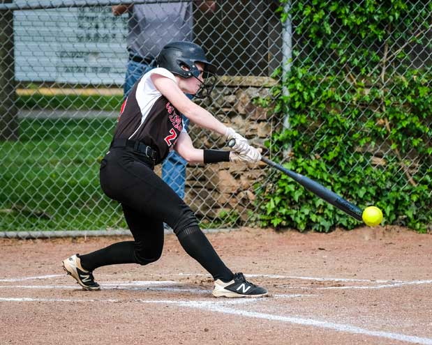 UPDATED: Columbia HS softball team tops MKA as Hudson Hassler gets 100th career hit