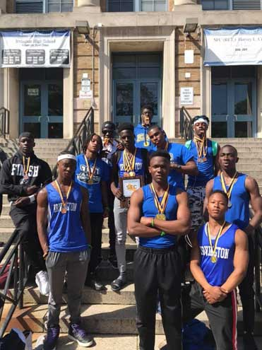 Irvington HS boys track and field team captures SEC-Liberty meet title