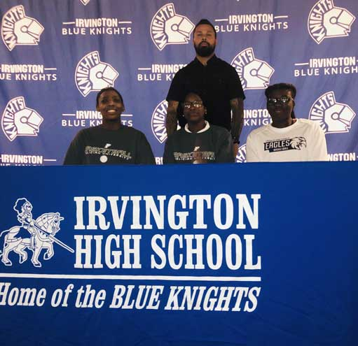 Irvington HS girls basketball seniors Tiara Mahorn and Briana Lee sign with Felician University; Exume signs with College of St. Elizabeth