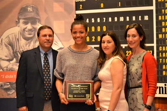 Columbia HS' Lauren Lake receives Best Teammate Award