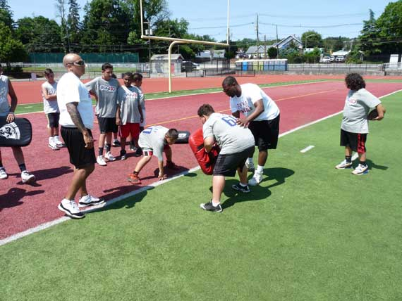 Ninth annual BHS Alumni Football Camp is a big success