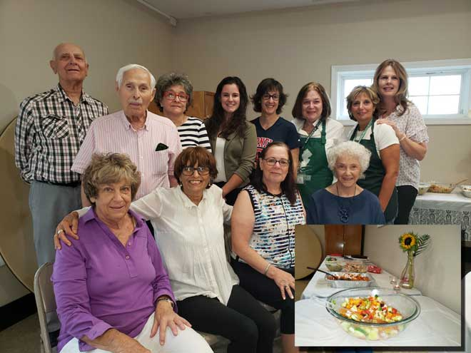 Senior Garden Club members eat the fruit of their labors