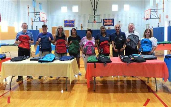 West Orange Rotary donates backpacks to Kelly, Redwood students