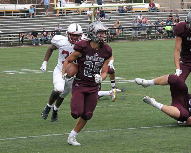 Nutley HS football team holds off Bloomfield in season opener
