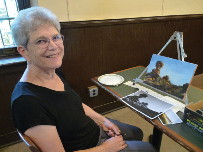 Senior painters get back to the easel