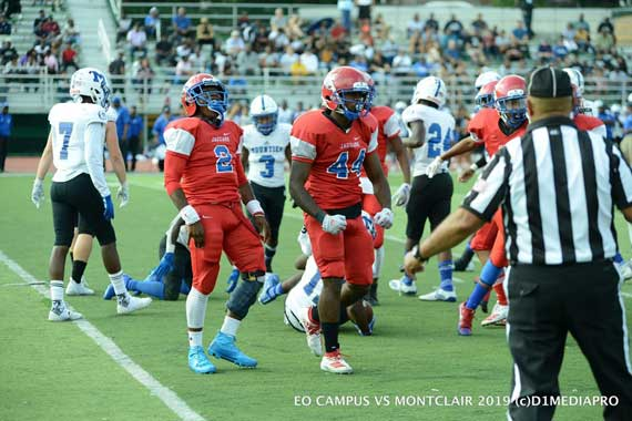 East Orange Campus HS football team defeats Montclair, 26-6, to improve to 3-0