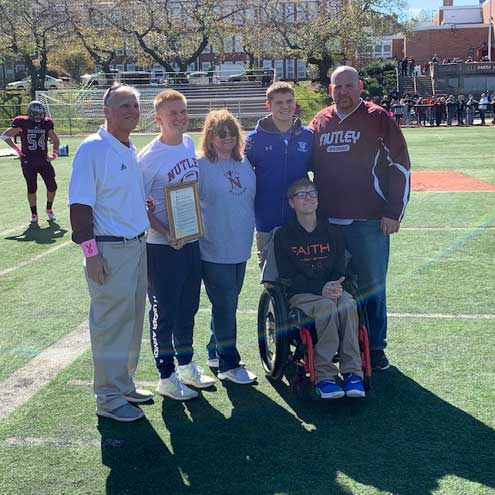 Nutley HS football team defeats Lincoln as ailing head coach Steve DiGregorio is honored