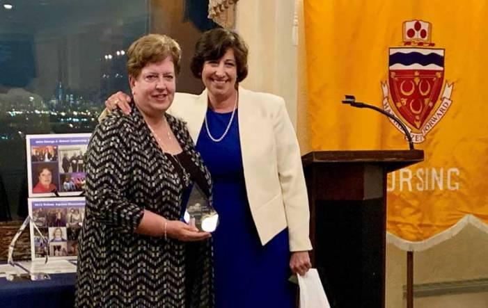 SHU honors Schmidt for nursing leadership