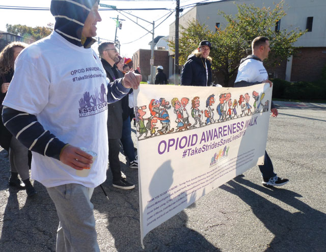 Opioid Task Force holds awareness walk through town