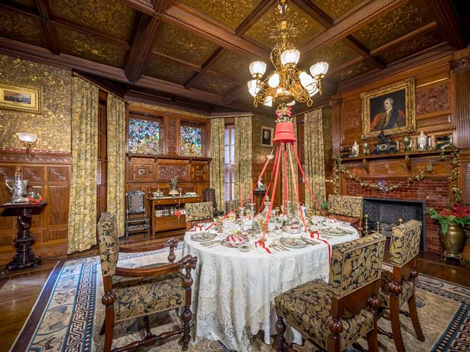Experience Christmas in the 1885 Ballantine House