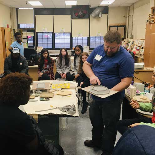 CHS students learn from ceramics masterclass