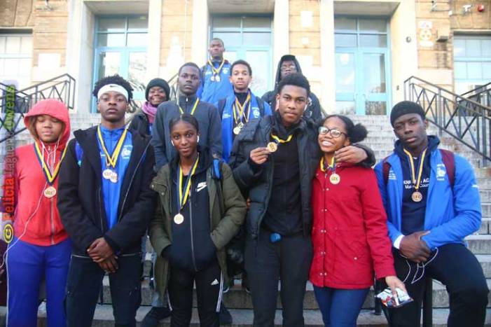 Irvington HS boys indoor track team impresses at SEC Championships