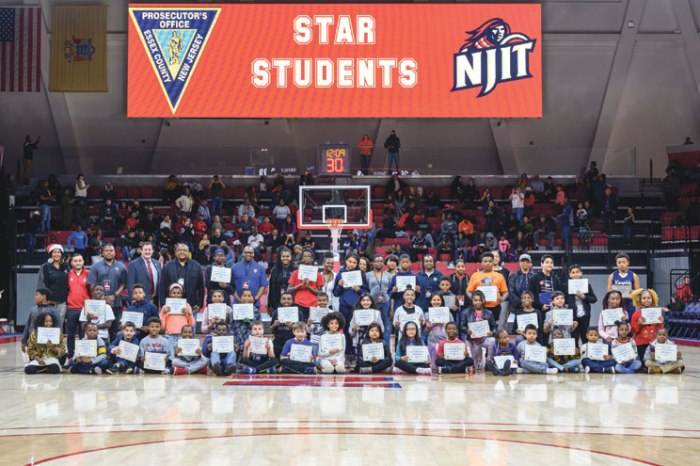 NJIT Athletics teams up with Prosecutor's Office to honor students