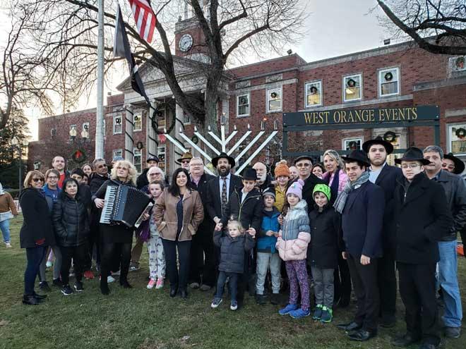 West Orange celebrate Hanukkah