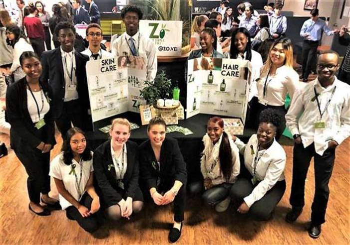 WOHS virtual enterprise team wins prizes at competition