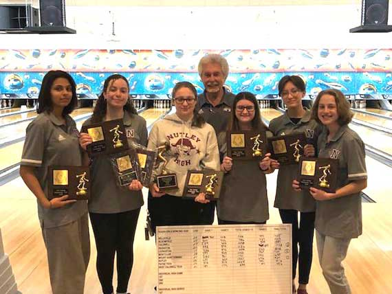 Nutley HS girls bowling team wins Essex County title; boys team finishes runner-up