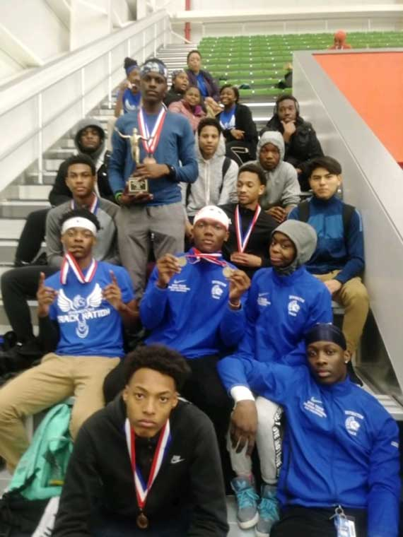 Irvington HS boys indoor track and field team finishes second overall at Essex County Championships