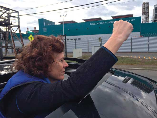 Drivers protest ICE detention in Essex County