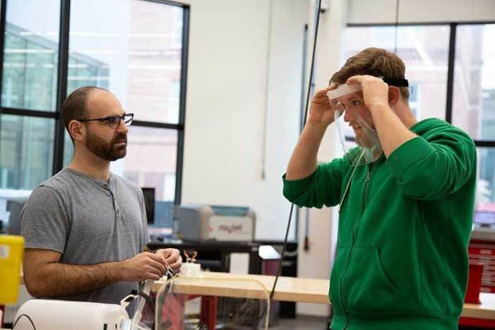 NJIT designers fabricate masks, shields and swabs to battle COVID-19