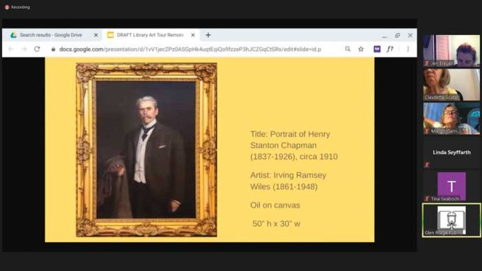 Virtual art tour highlights library's gallery