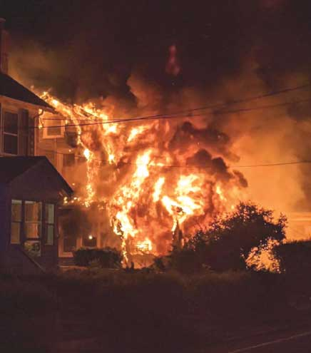 Maplewood FD and PD rescue three from devastating house fire